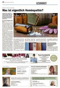 Zeitungsbericht Luzerner Rundschau, Homöopathie, Gesundheit